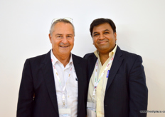 Marketing Director David Levin with CEO Priyatham V of Sam Agritech (India).