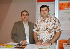 Director Shoaib Ahmad of National Fruit Processing with Director Shahid Sultan of Kinnow Grading & Waxing Plant (Pakistan)