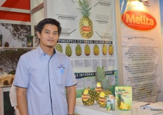 Yusri Yusop for Kulim Berhad (Malaysia); the company uses Melita as their brand for pineapples.