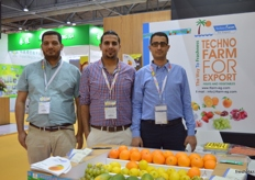 The men of Techno Farm: Chairman Hamada Elomda; Marketing Manager Hesham Ebaid and Sales Manager Ahmed Shalaby (Egypt).