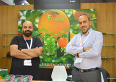 Fruitica Managing Director Magdy Said with Ihab Karam; Fruitica has a new packing house in Belbis, Egypt