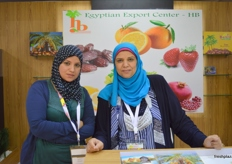 Basma Hassan El Banna and Faten Fouad of HB Egyptian Export Center (Egypt)