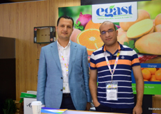 Egast CEO Dr. Hatem El Shallma and Assistant Export Manager Muhammad Deghady (Egypt).