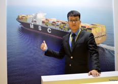 Anthony Yu, assistant officer of MSC Mediterranean Shipping Co., Qingdao, China