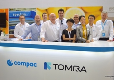 Compac and TOMRA together as one; TOMRA acquired Compac last year.. bringing Compac's lane sorting solutions together with TOMRA's bulk sorting solutions under one roof.