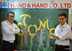 Director Min Kim with Nguyen Huu Thien of Hand & Hand Co. Limited (Vietnam); exporting bananas to South Korea