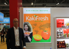 Pieter de Jong of KakiFresh Nature. The goal is to eventually deliver kakis all year round. There is already supply from Spain, Uruguay and Peru.