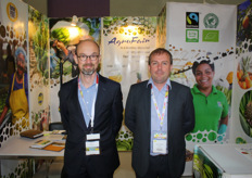 """Hans-Willem van der Waal and Geert Demeyere of AgroFair. Since this year, AgroFair has been working with bananas from Nicaragua. China has not shown much interest in Fairtrade bananas, but other Asian markets have, including Japan. ""There are some phytosanitary obstacles, but not so great that we cannot overcome them."""