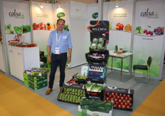 Piet Verbrugghe of Calsa, which participated in the fair for the third time in a row. Last year, Calsa exported the first Bel'Orta pears to China. For vegetables, there is mainly demand from Japan, Korea and Taiwan. India is particularly interested in Belgian apples, but there is a lower availability of them this year.