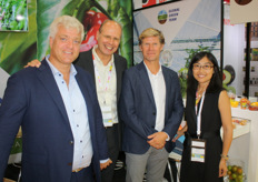 The team of Global Green Team, which has also started exporting peppers to China. From left to right, Jelte van Kammen, Arno Verboom, Frans van der Hout and Wen Klopstra-Jiang.