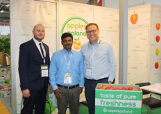Michal Walczok and Tomas Tyc from Appels Poland with their Indian client Santhosh Babu Jaya Kumar.