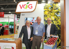 Jon Durham (International Pink Lady Alliance Limited), Peter Dall (Pomfruit Alliance) and Gerhard Dichgans (VOG)