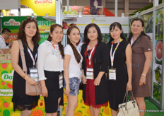 At the Kim Nhung Dong Thap Co. stand (Vietnam)