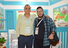 Sales Manage Levent Cakmak of Aypek with a colleague (Turkey)