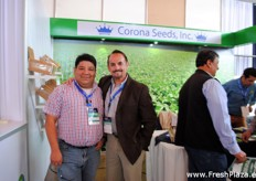 Estuardo and Robert J Brown from Corona Seeds, one of the American exhibitors.