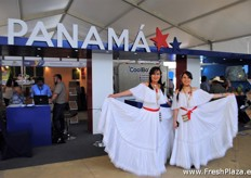 As well Panama was present with a pavilion. These 2 ladies were in traditional dresses.