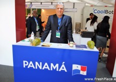 Hormoz Safi from Panafruit was one of the exporters from Panama on this stand.