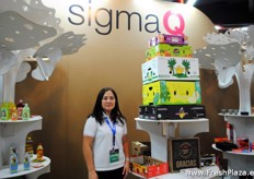 Yeimi Artola from Sigma, packaging company for many sectors. As well as the fresh produce industry.