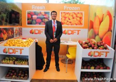 As well Fabio Portillo from DFT Mangos was present, which as you can see in the picture offers fresh and frozen mangos. The varieties are Keitt, Kent, Tommy Atkins and Ataulfo.