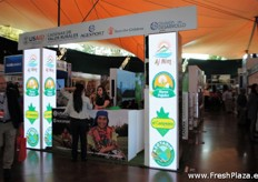 And completely in the beginning of the exhibition there was a stand which was part of the US aid development, división de Desarrollo, with several companies.