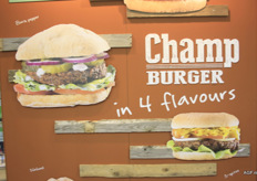 Champ Burger: a burger made of… mushrooms! Powered by Banken Champignons.