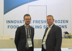 Kasper Martin Hansen (left) explaining that Agro Merchants Group is hard at work in the fresh and frozen fruit and vegetables trade. The company has two warehouses, specifically for fruit and vegetables. He said that the Agro Merchants Group's focus has shifted to fresh produce.