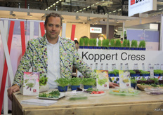 "Koppert Cress is a sponsor for Anuga. Marc Bonsmann presented a wide range of gastro products. ""We are pioneers when it comes to certain products. Our job is to add knowledge and to highlight opportunities."""