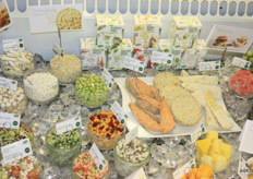 "Ardo, specialises in frozen products. New: roasted corn, frozen herbs and smoothie mixes. Much is sourced ""glocally"". Vegetable rice is also a growing market."