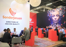 The busy SonderJansen: 'Directors of Frozen Quality's stand.