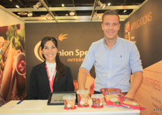 "Christian Koeman (right) of Onion Specialties. ""We have seen a lot of growth in the area of organic cocktail onions in Scandinavia and Germany, and now increasingly, also in the Netherlands."" This producer of fried onions supplies in retail packaging, but also to the food services industry."