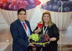 Fabian Garcia and Susan Day promoted the Californian grapes on behalf of the Californian Table Grape Commission