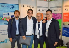 Andrea Rubbiany and Marco Martinelli from Linea Trade, together with Massimo Delpozzo from Nord Ovest and Roger Chan from AEL Berkman