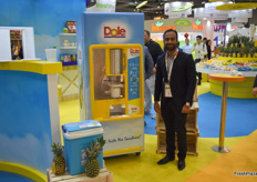 Hassan Jamil from Dole Asia Singapore presents the Pina Bar: a machine that peels and cuts the pineapple within a few seconds
