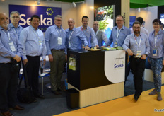 Seeka Australia had a stand on the Australian pavilion for the first time. They had a selection of pears on show, including the new Frank variety. The Seeka board and CEO came along to visit. Left to right: Ratahi Cross, Stu Mckinstry - CFO, Mel Diaz, Fred Hutchings - Chairman, John burke, Cameron Carter -Seeka Australia, Ashley Waugh, Maty Brick, Michael Franks - CEO, Cecilia Tarrant.