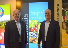 Ian Locke was with Stuart Burgess the newly announced CEO of the Tasmanian Fruit Growers.