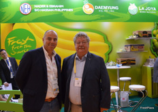 Paul Smits from NEH and Frits Popma who have been working together in the banana business for 30 years.