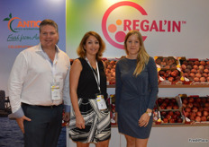 Justin Sheild from Antico International with Aurelie Nunez and Josephine Bonnet from Regal'In. Antico handle the sales and marketing in the EU for the Spanish production, Regal'In have the branding and breeding rights.