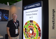 HiveXchange were back at the tradefair, with the system to connect producers and customers in Australia and Asia. It was launched at last year and has been a great success. Gary Dickenson was at the stand.