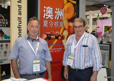 The Australian summerfruit season is looking very promising this season with cool winter nights and a dry spring which should give the fruit a high brix. Australia exported 122% more summerfruit last year than in the previous season. Ian McAlister and John Moore were at the stand.