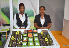 Grace Thuita and Anne Kavai from the Kenyan export company Keitt exports showed a wide range of vegetables
