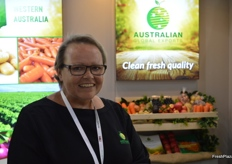 Sarah Bailey at the Australian Global Exports stand.