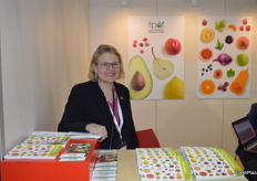 Marlette Kellarman, on hand as always at the Fresh Produce Exporters Forum stand.
