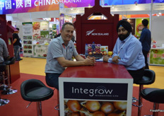 Intergor were at the tradefair for the first time, partly to celebrate the 20th anniversary of the company. Philip Bird was with a client.