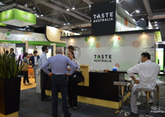 The Taste Australia stand always one of the main attractions at this event, all stand holders reported a huge flow of visitors throughout the event.