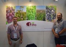 Christian Strydom and Pierre Van Dyk at the Pitto stand.