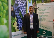 Nagesh Shetty was kept busy at the Deccan Produce stand.