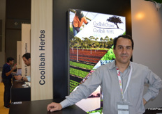 Coolibah Herbs were part of the Taste Australian stand for the first time - Vincent Eysseric.