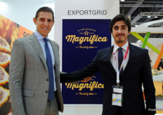 Rocco Scavetta and José Andrés Guerrero from Green Force Fruit, Ecuador. Promoting on of their brands presented at the show, which is named Magnifica.