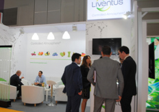 Chilean company Liventus, busy with meetings during the fair.