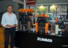 Pablo Bolinches from Zummo, Spain. First time exhibiting at the AFL presenting their juice machines.